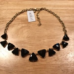 NWT J.Crew Factory black & gold necklace
